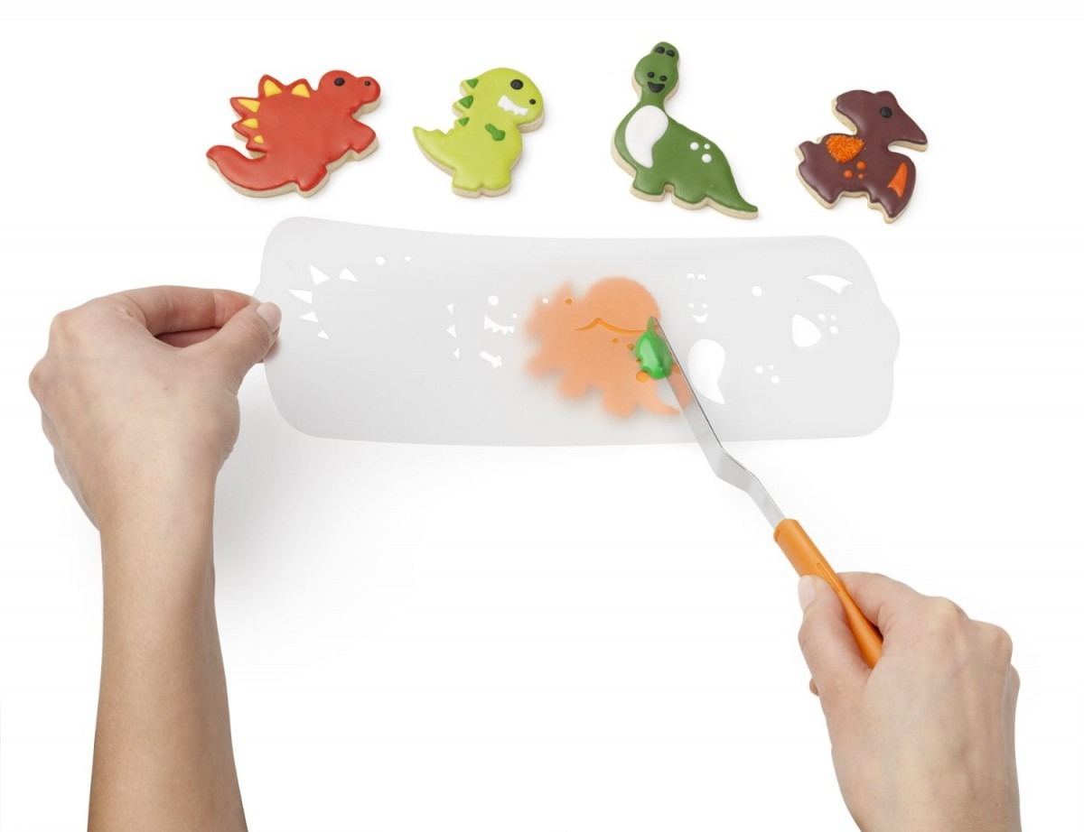 Chef'n Cookease Dinosaur Cookie Cutter & Stencil Set