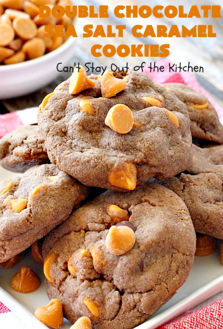 Double Chocolate Sea Salt Caramel Cookies