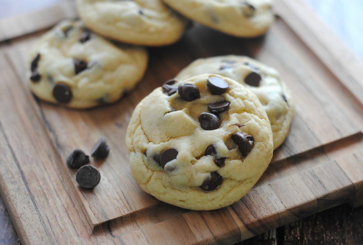 Chocolate Chip Cake Mix Cookies