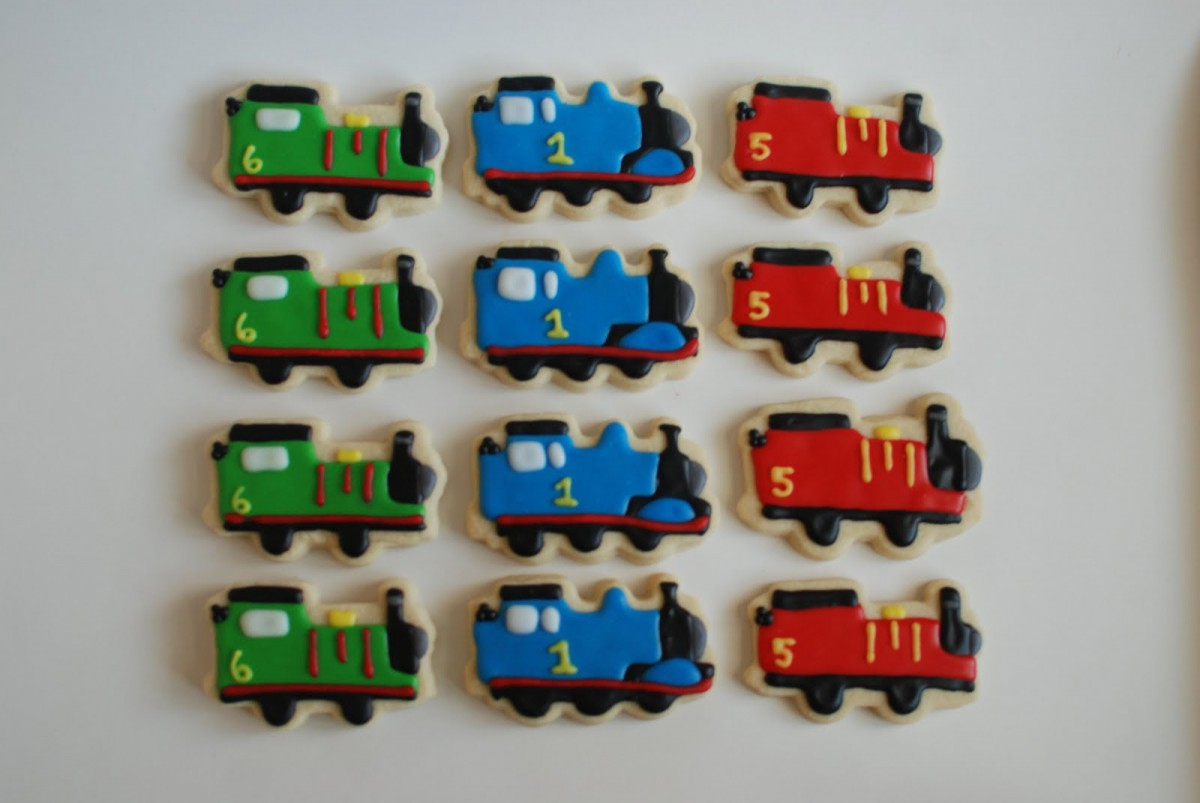 Allison's Cookies     Thomas The Train Cookies (and Percy And