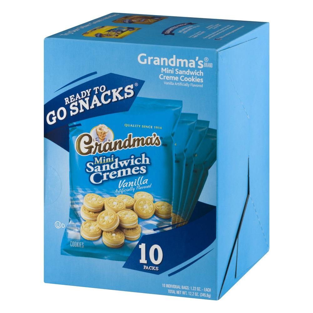 Grandma's Ready To Go Snacks Mini Sandwich Cremes Vanilla Cookies