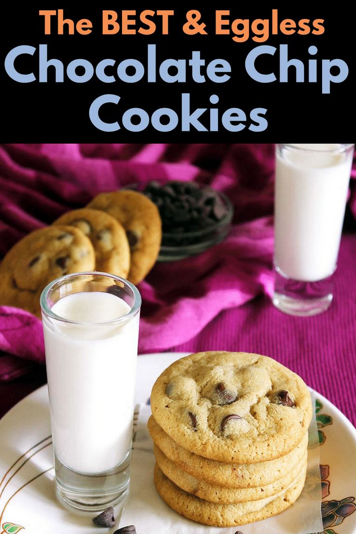 Eggless Chocolate Chip Cookies (best Eggless Cookie Recipe)