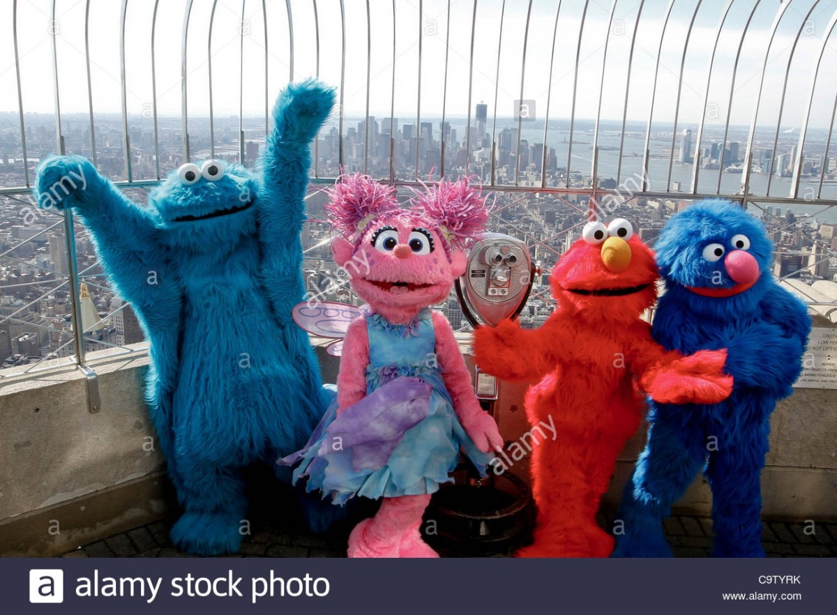 Elmo, Cookie Monster, Abby Cadabby And Grover From  Sesame Street