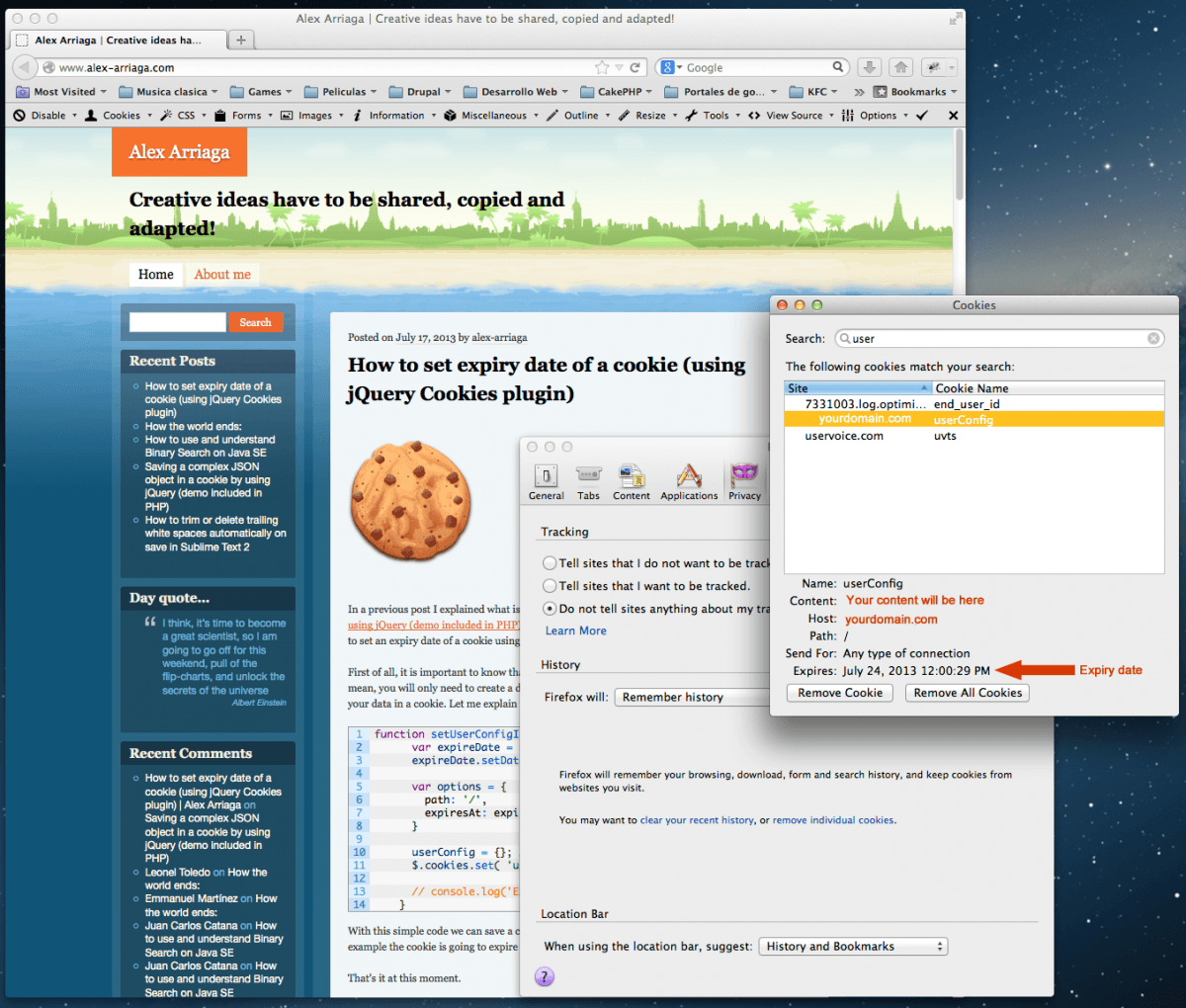 How To Set Expiry Date Of A Cookie (using Jquery Cookies Plugin