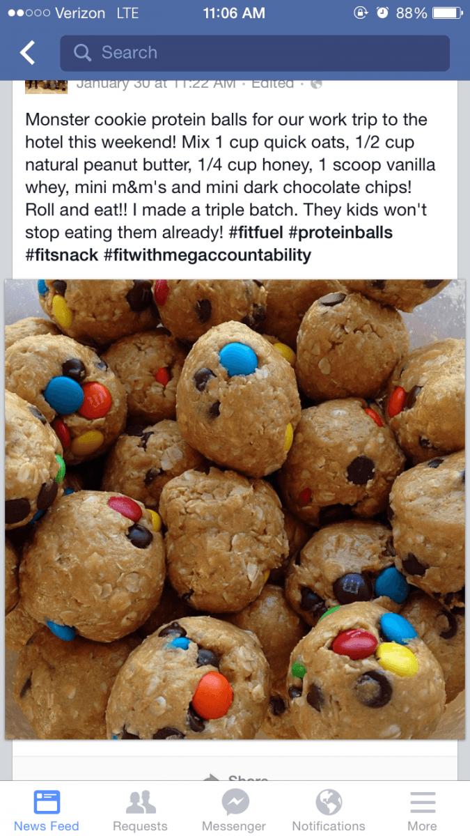 Monster Cookie Protein Balls – Theyangsterincr