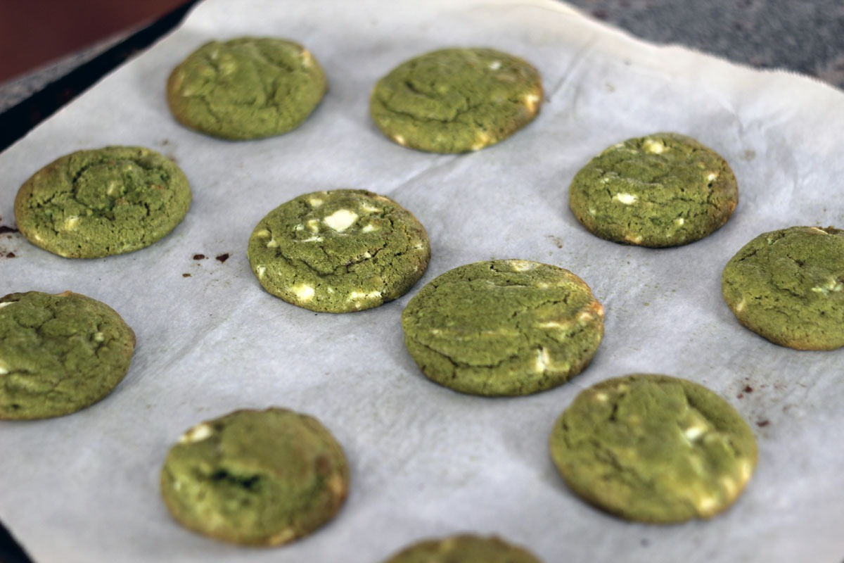 Green Tea White Chocolate Chunk Cookies (experiments With Matcha