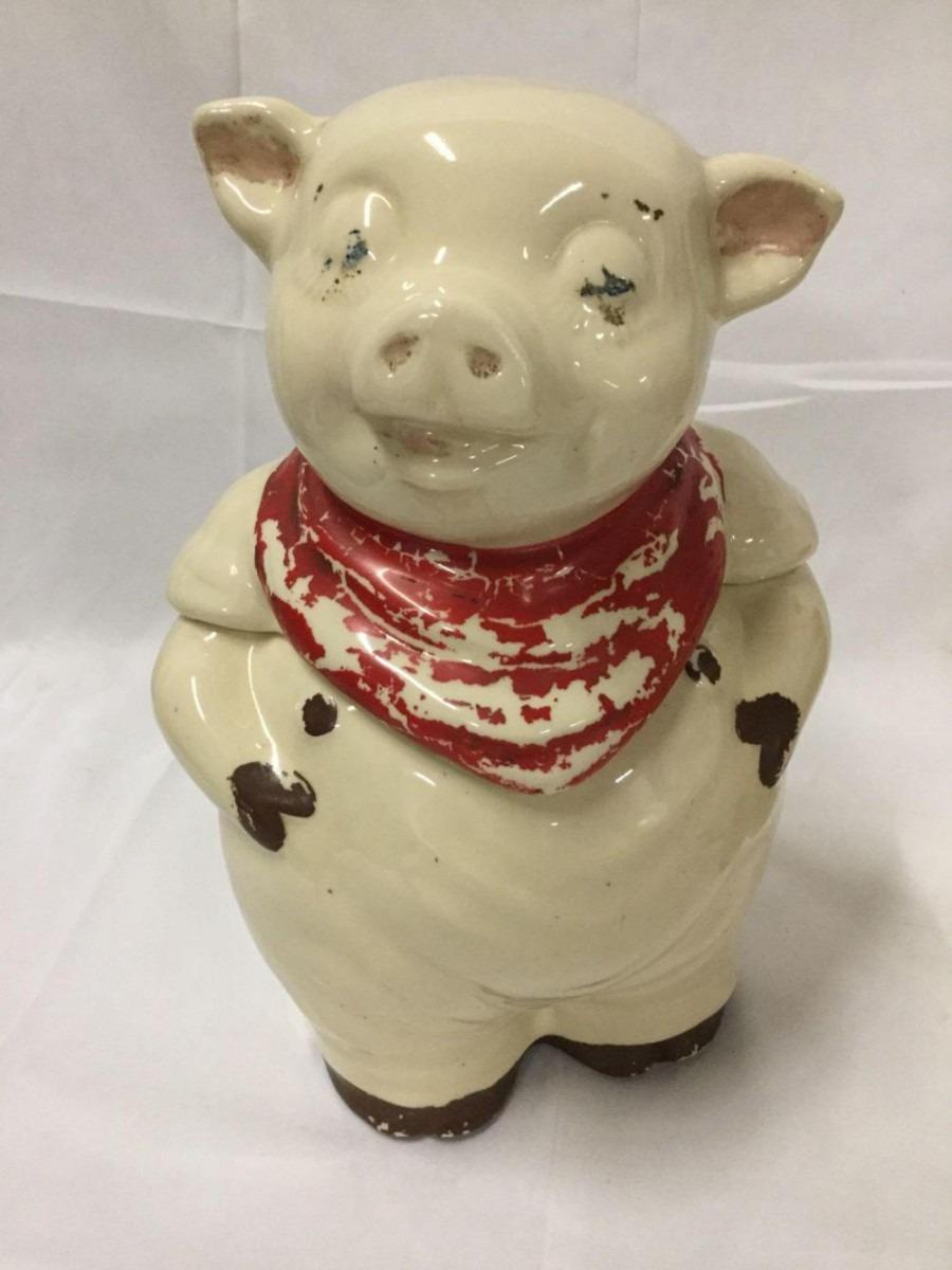 3 Vintage Shawnee Ceramics Pig Cookie Jars
