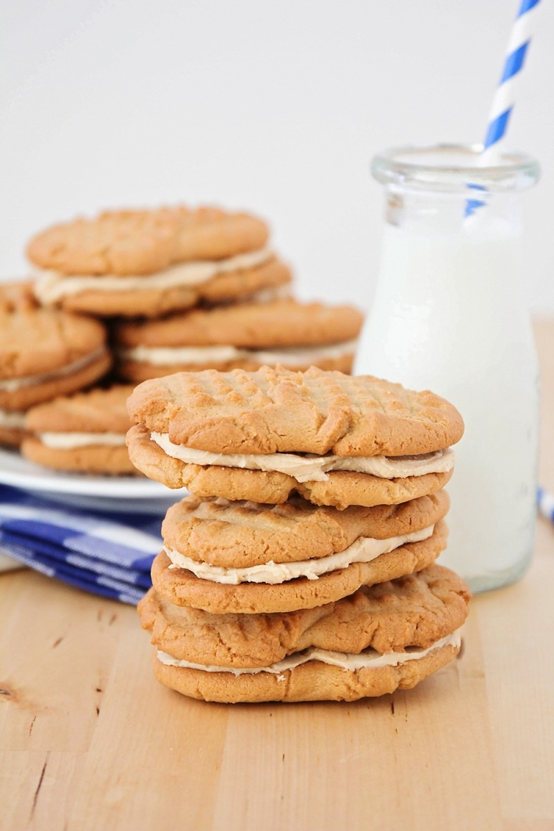 The Baker Upstairs  Giant Homemade Nutter Butter Cookies