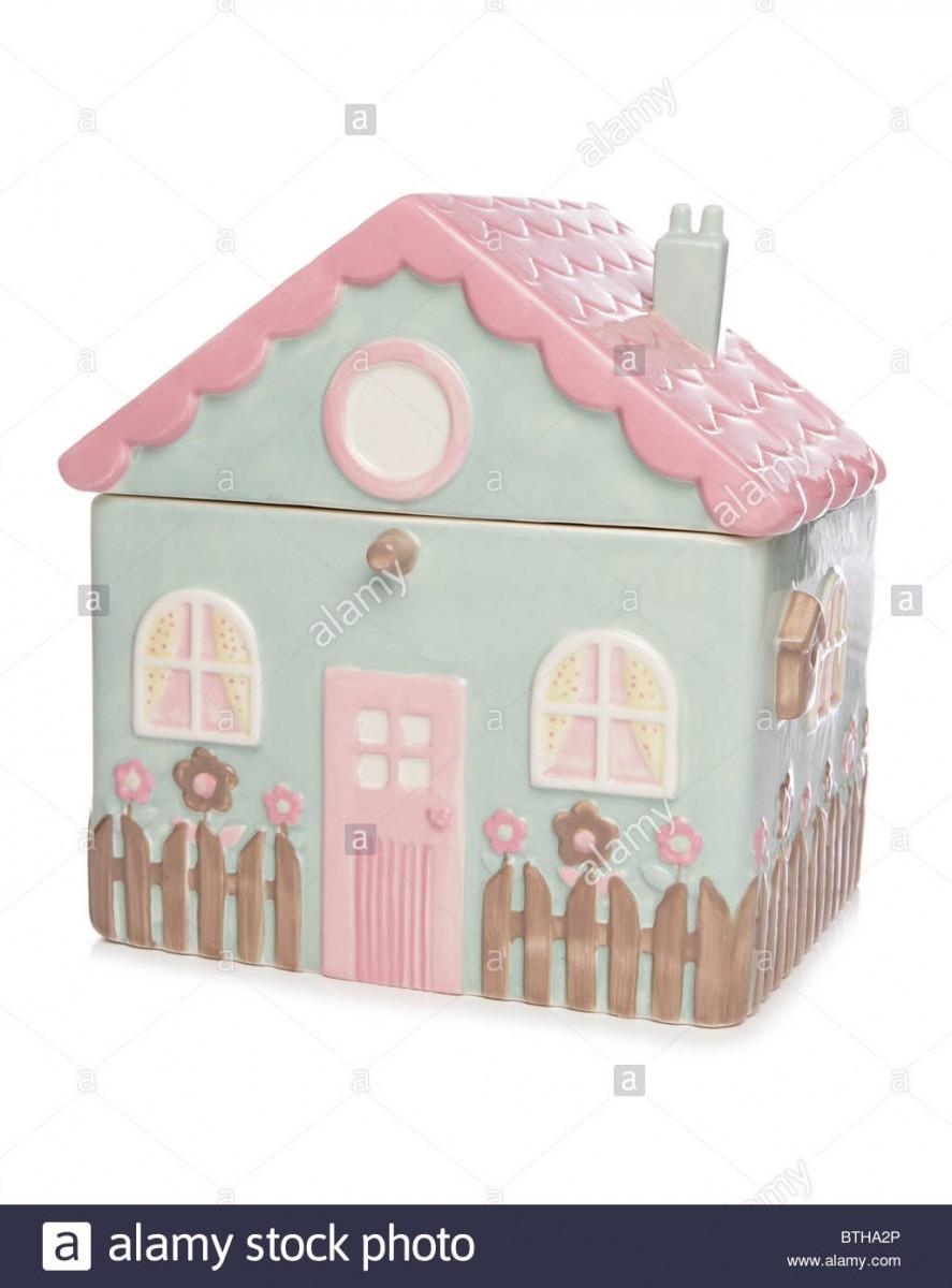 House Cookie Jar Studio Cutout Stock Photo  32343214