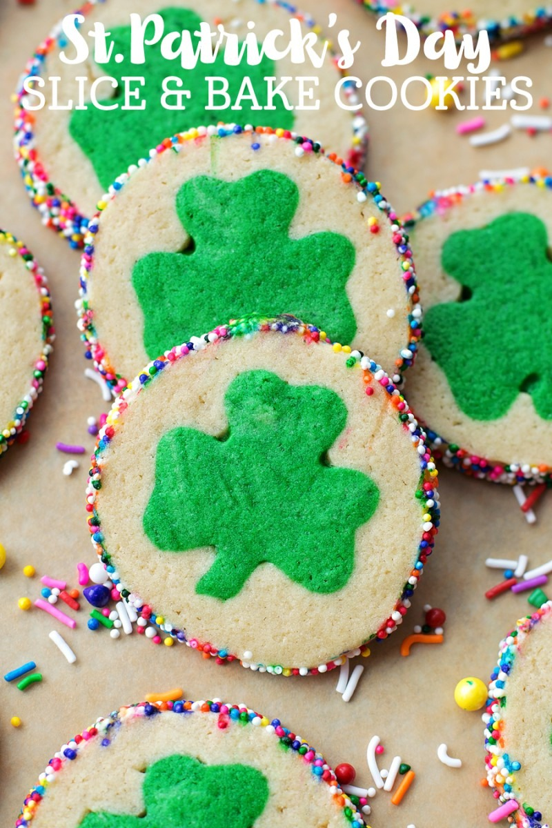 St  Patrick's Day Slice And Bake Cookies