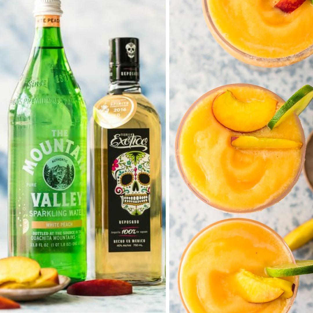 Skinny Peach Frozen Margarita Recipe By The Cookie Rookie