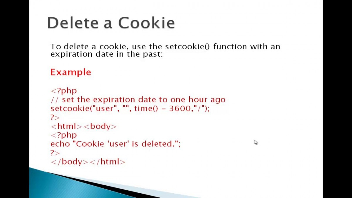 Delete Cookie Php Tutorial In Urdu And Hindi