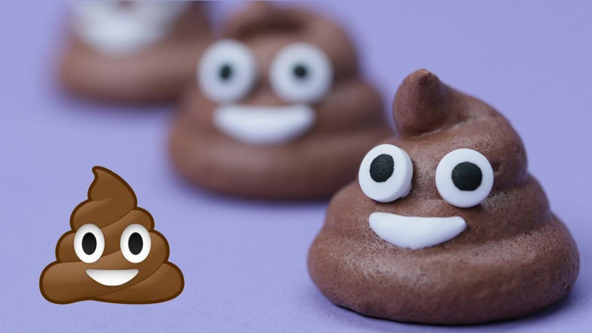 Poo Emoji Meringue Cookies