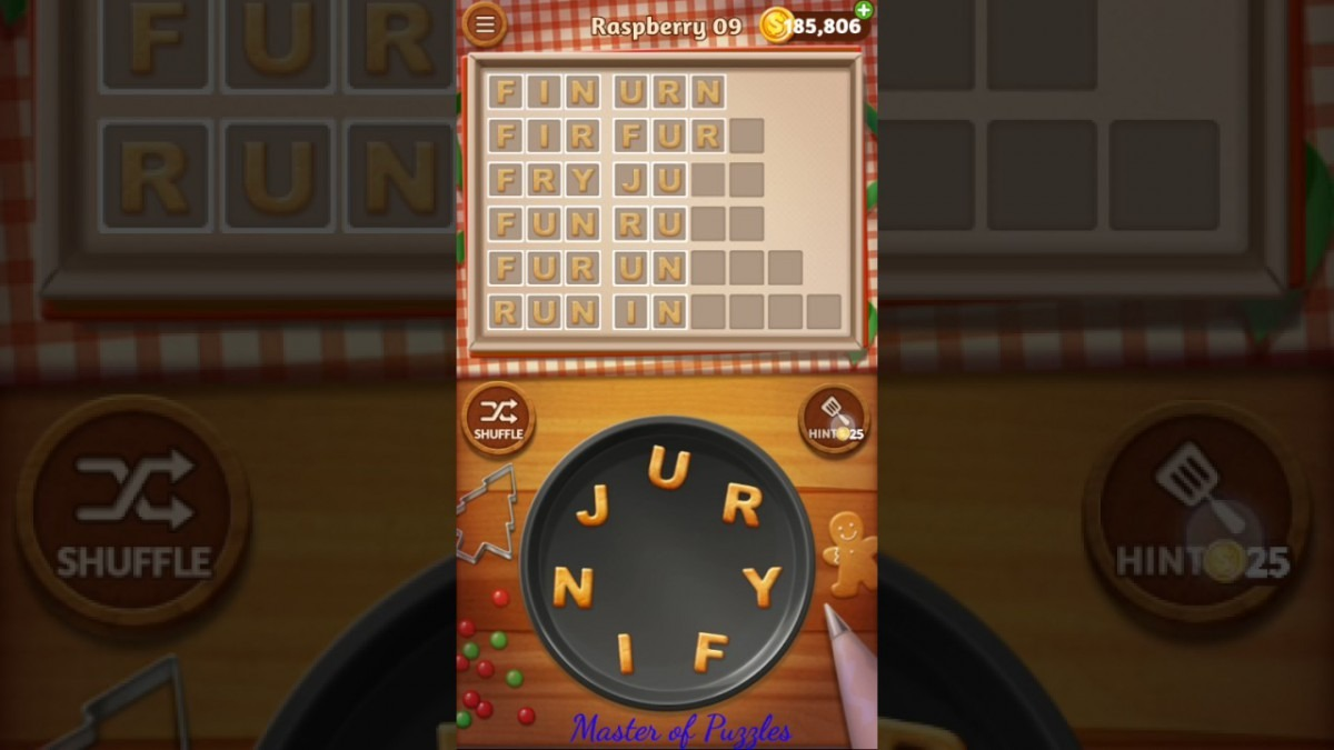 Word Cookies Raspberry Level 9 Celebrity Chef Solved