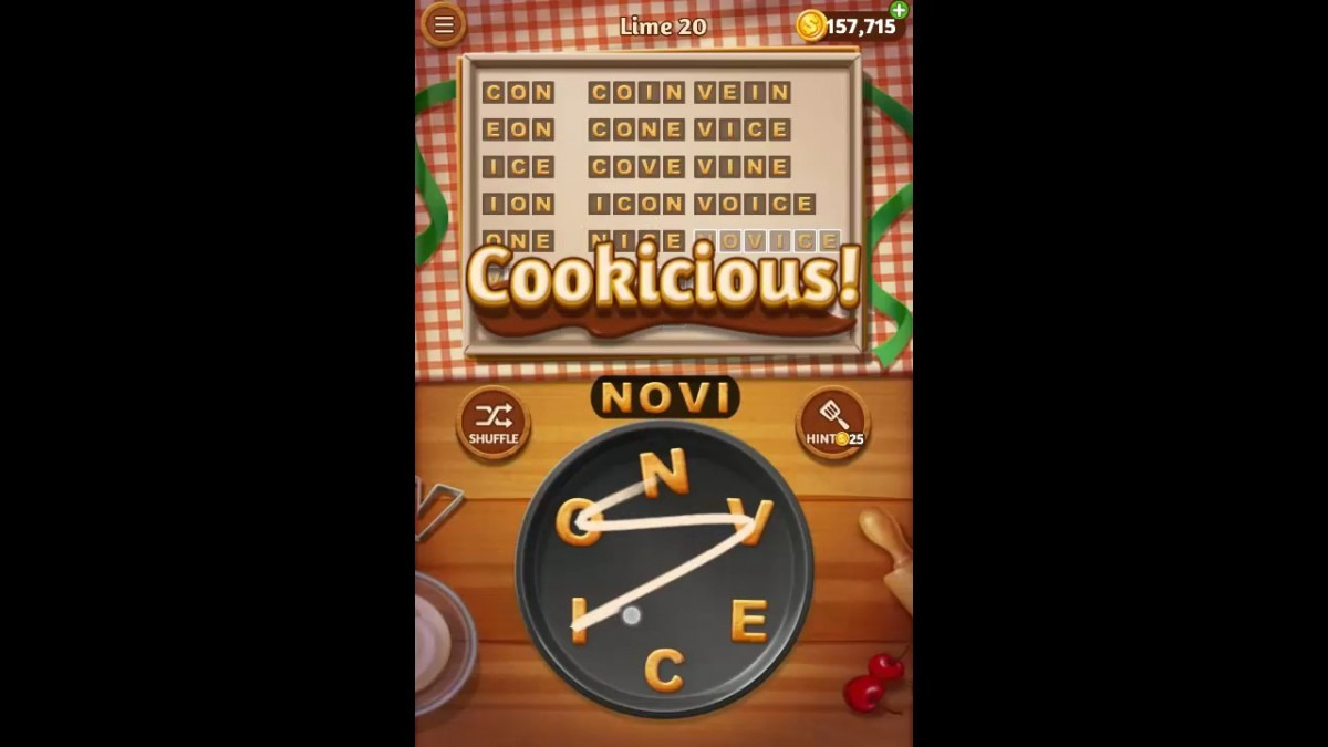 Word Cookies Lime Pack Level 20 Answers