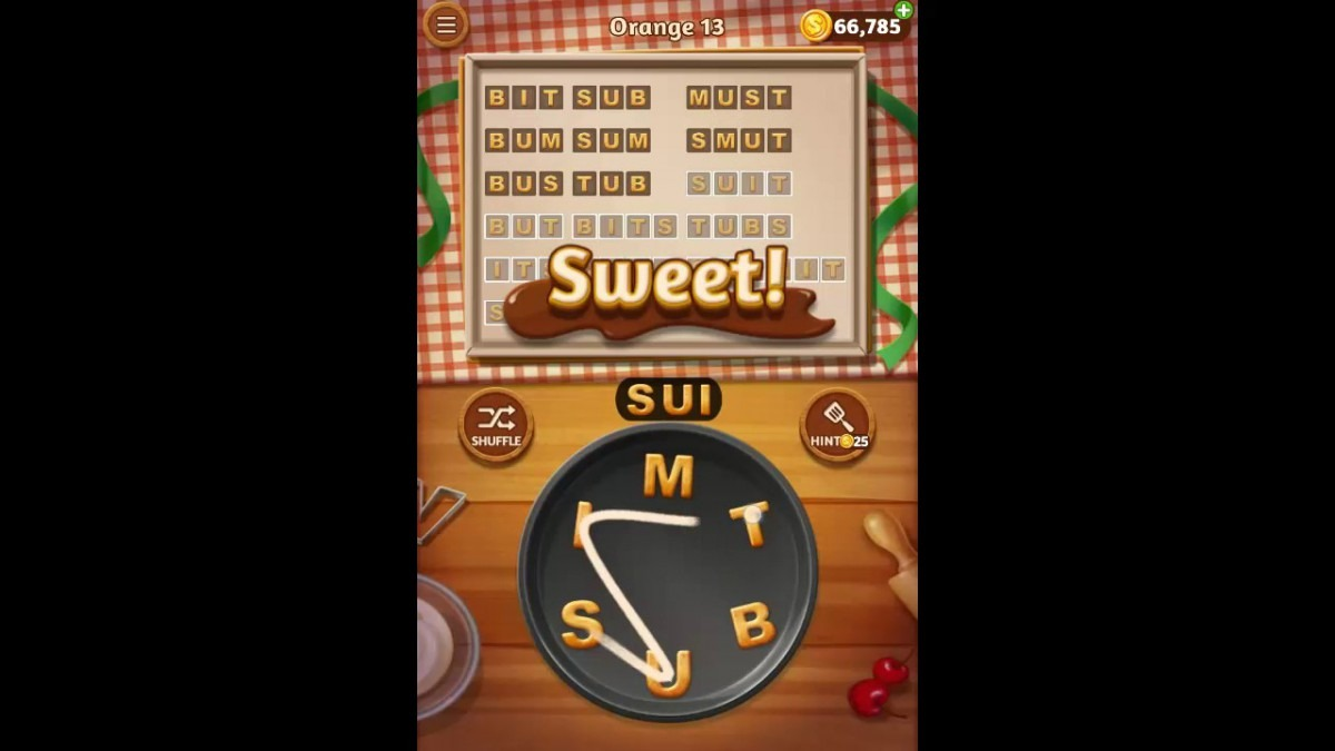 Word Cookies Orange Pack Level 13 Answers