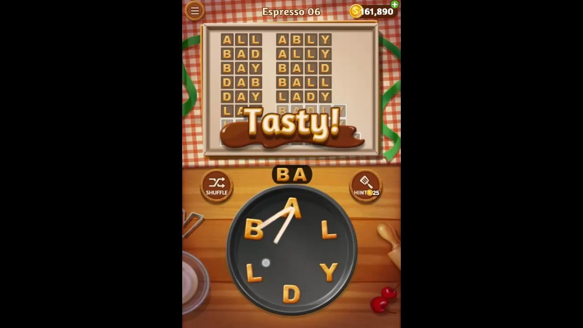 Word Cookies Espresso Pack Level 6 Answers