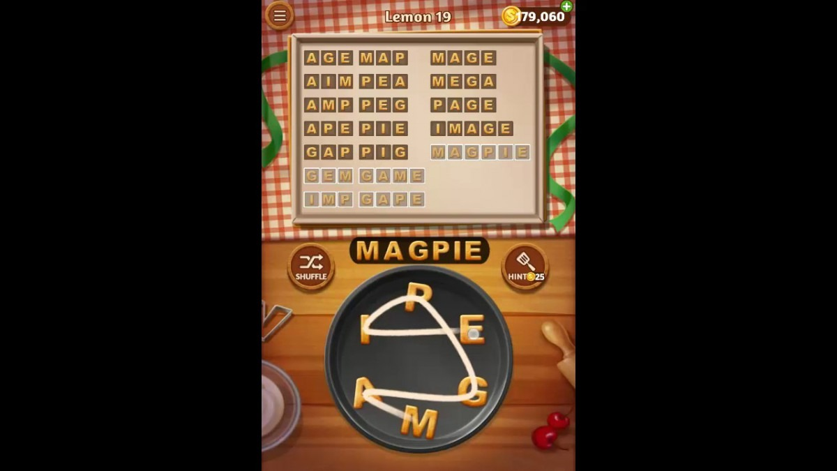 Word Cookies Lemon Pack Level 19 Answers