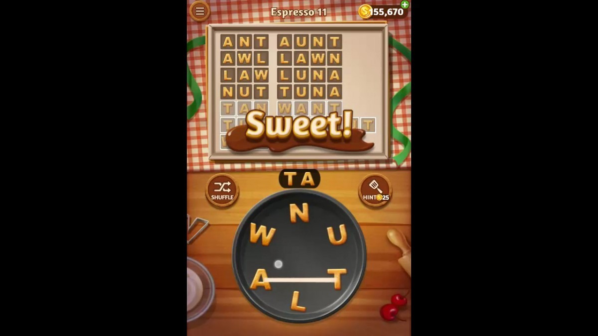 Word Cookies Espresso Pack Level 11 Answers