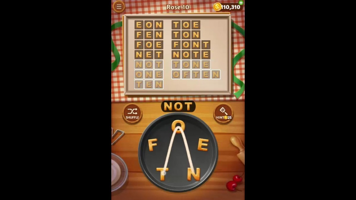 Word Cookies Rose Pack Level 10 Answers
