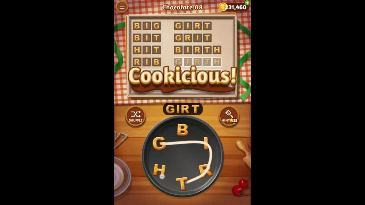 Word Cookies Chocolate Pack Level 8 Answers