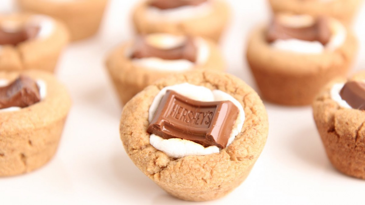 S'mores Cookie Cups Recipe