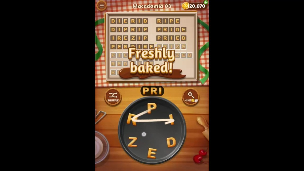 Word Cookies Macadamia Pack Level 3 Answers