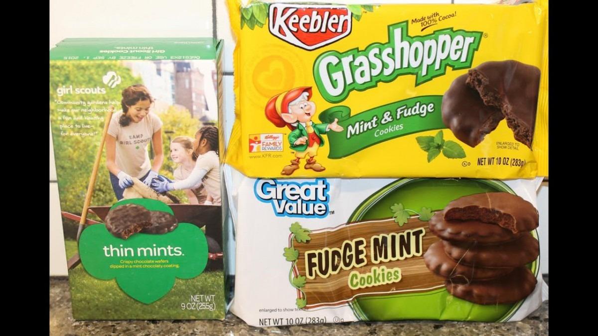 Girl Scouts Vs Keebler Vs Great Value  Mint Cookie Blind Taste