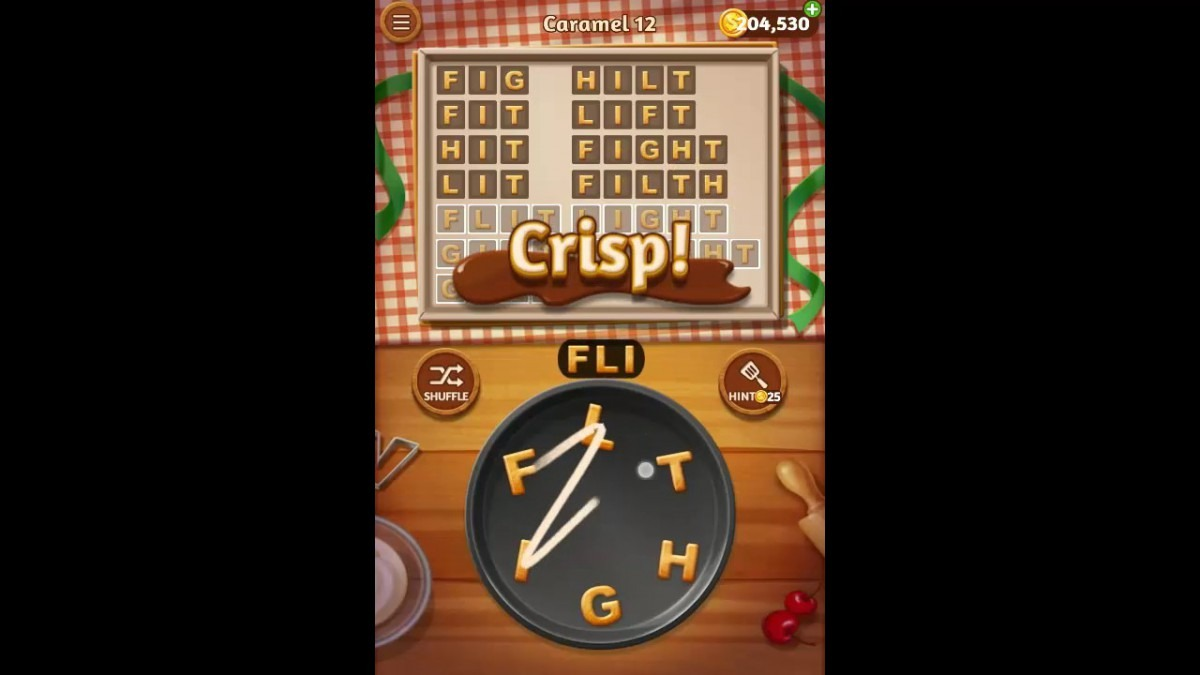 Word Cookies Caramel Pack Level 12 Answers