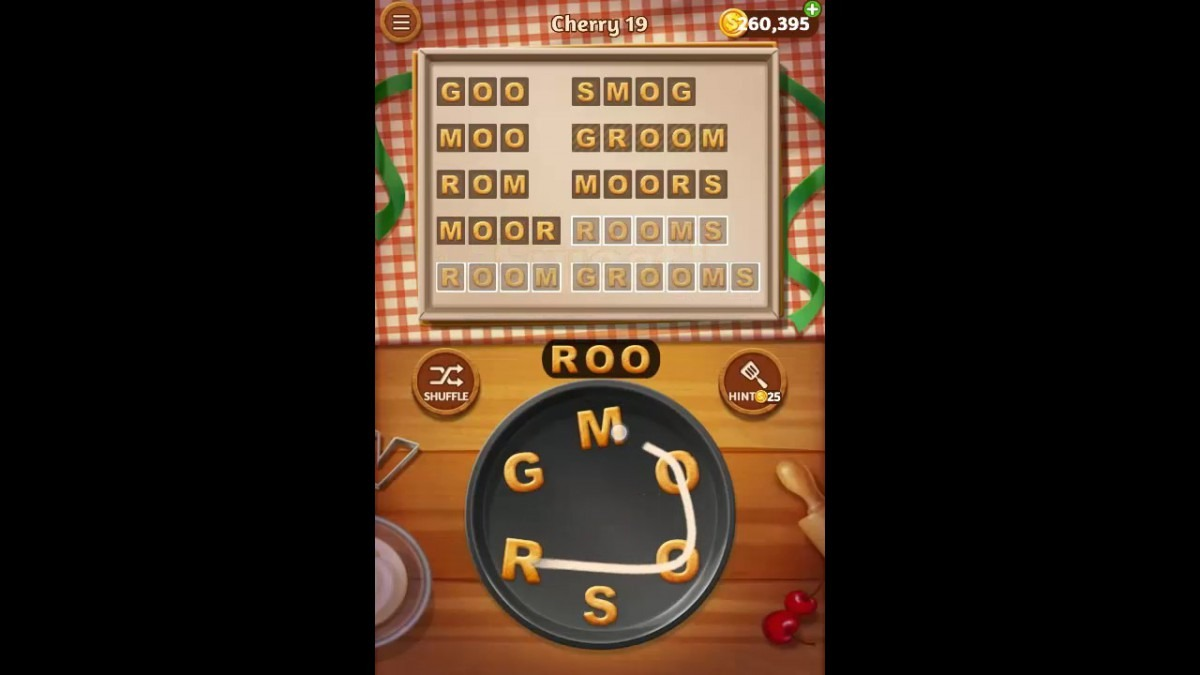 Word Cookies Cherry Pack Level 19 Answers