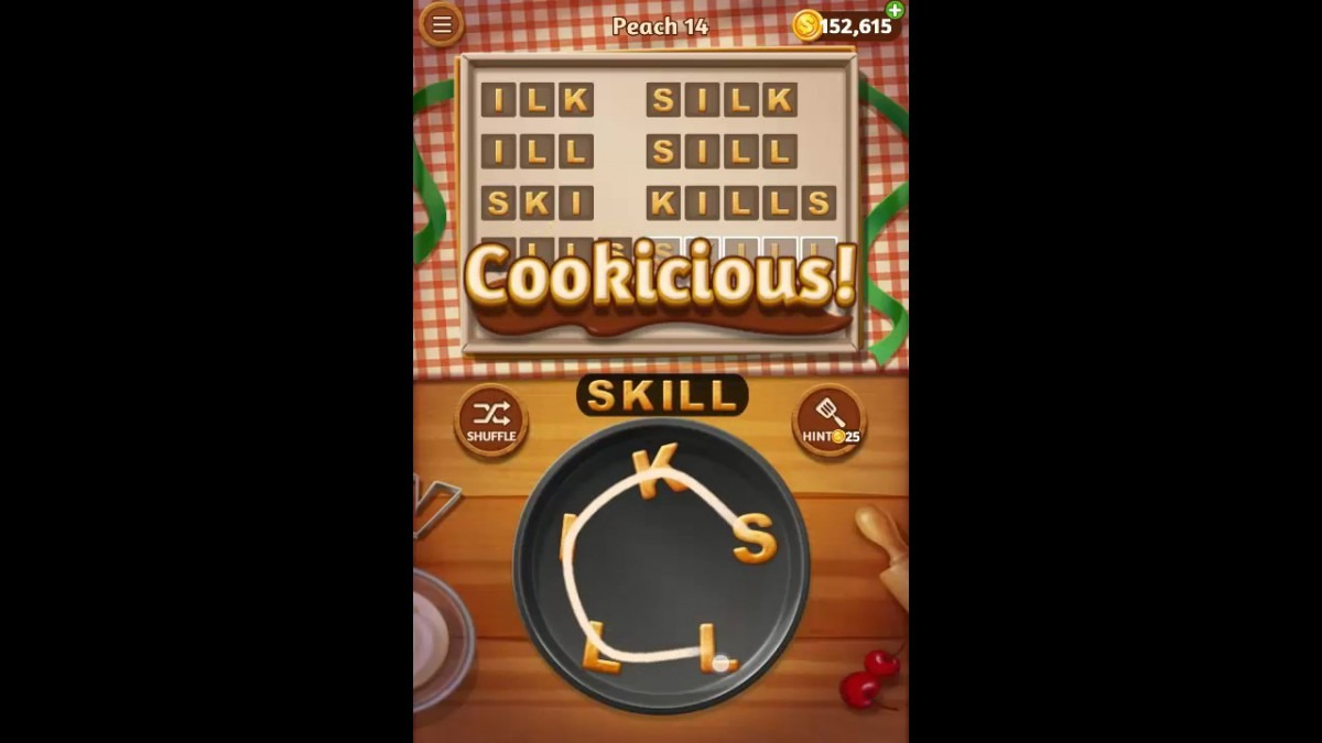 Word Cookies Peach Pack Level 14 Answers