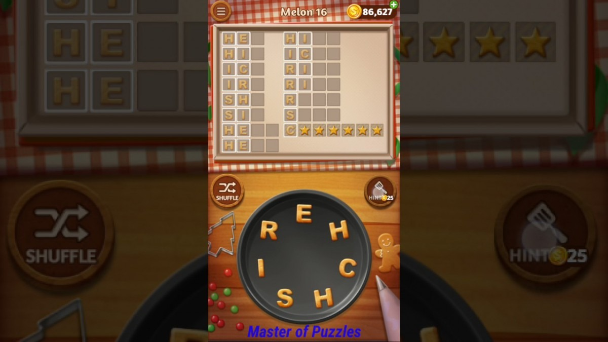 Word Cookies Melon Level 16 Sous Chef Solved