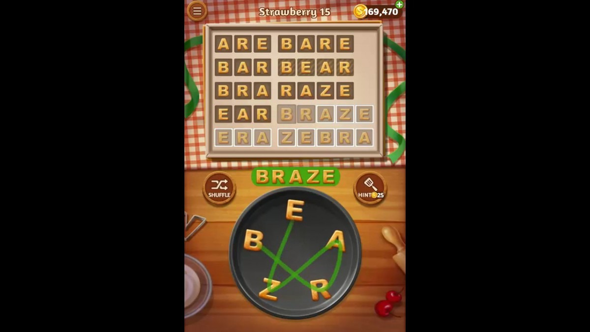 Word Cookies Strawberry Pack Level 15 Answers