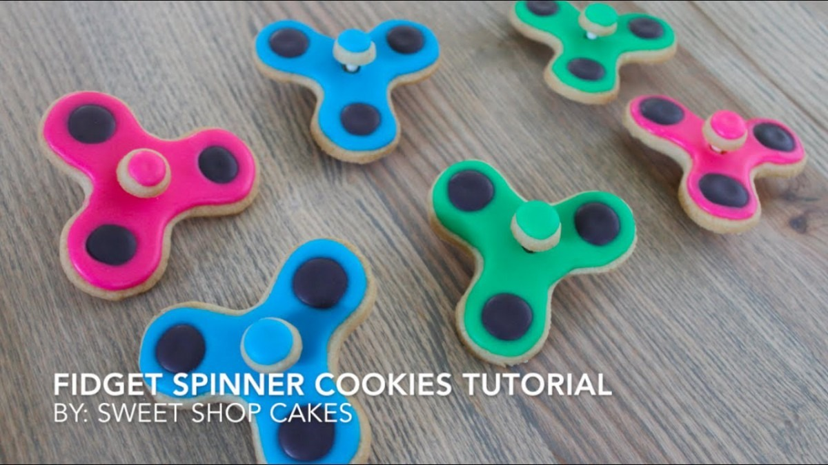 How To  Fidget Spinner Cookies Tutorial (yes They Spin!)