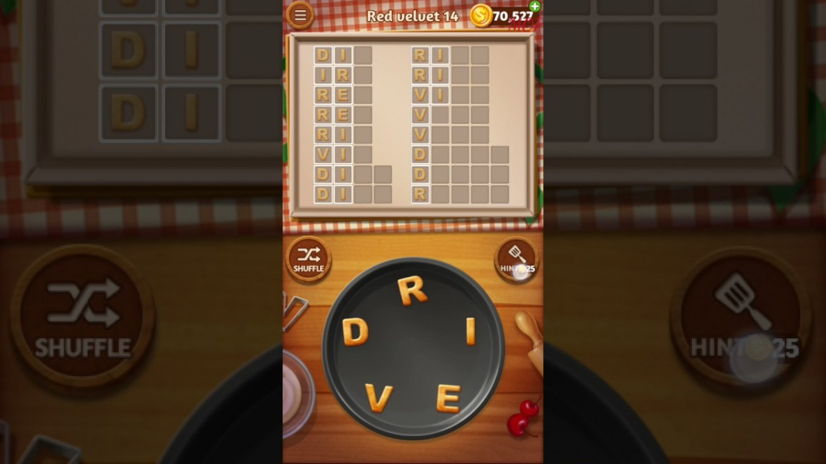 Word Cookies Red Velvet Level 14 Talented Chef Solved