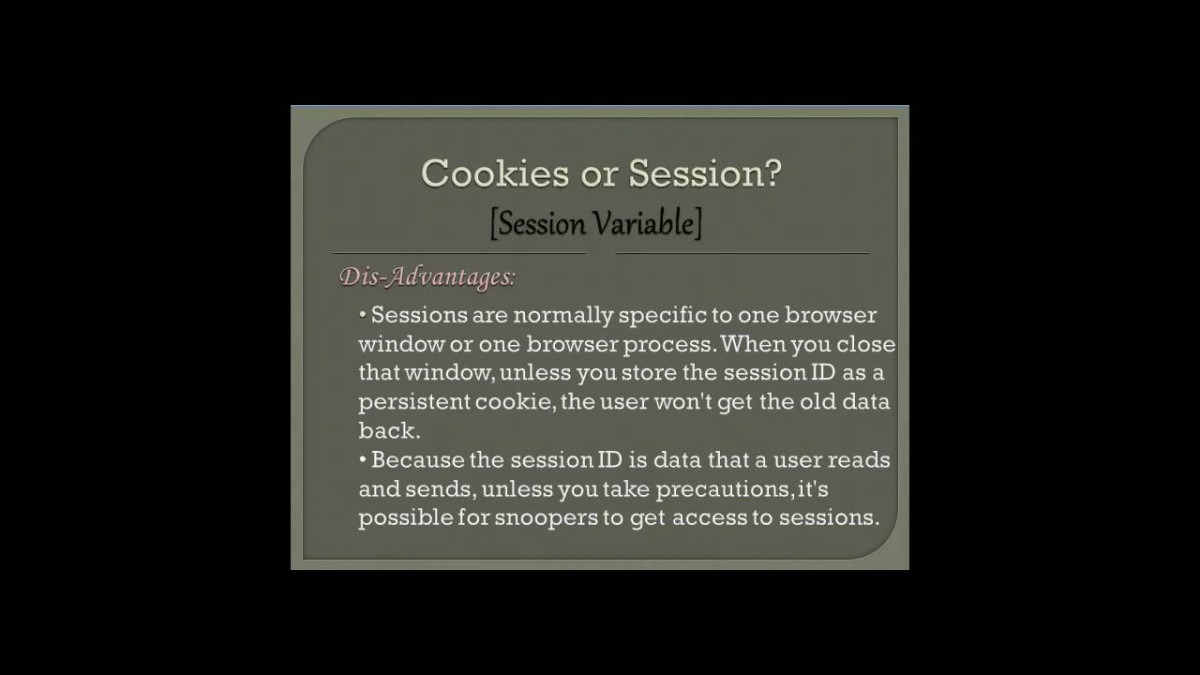 What Is The Difference Between Session And A Cookie