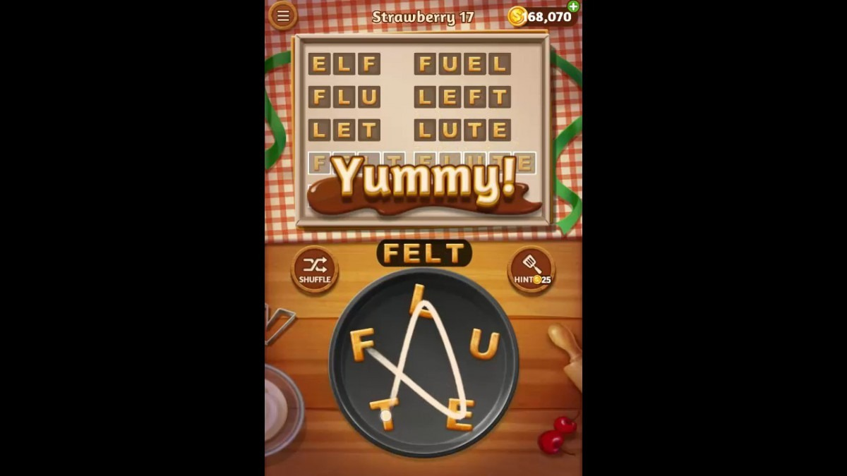 Word Cookies Strawberry Pack Level 17 Answers