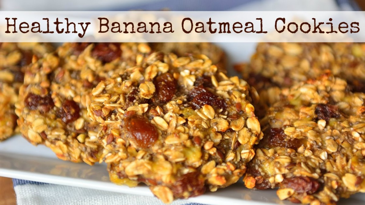 Healthy Vegan Banana Oatmeal Cookies Breakfast Ideas ♡ Vegan