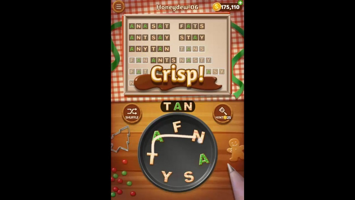Word Cookies Honeydew Pack Level 6 Answers