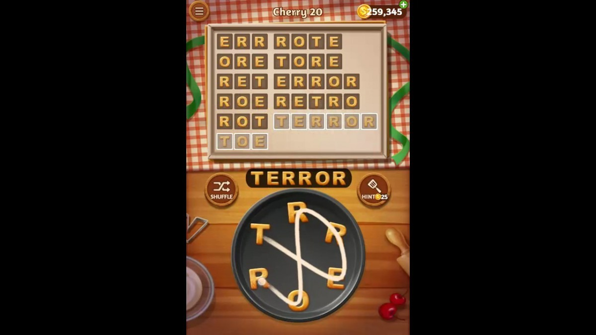 Word Cookies Cherry Pack Level 20 Answers