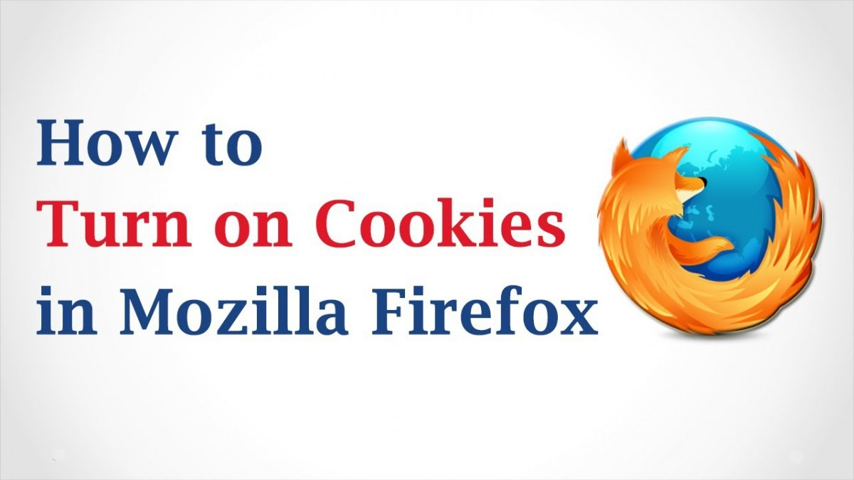 How To Turn On Cookies In Mozilla Firefox Browser