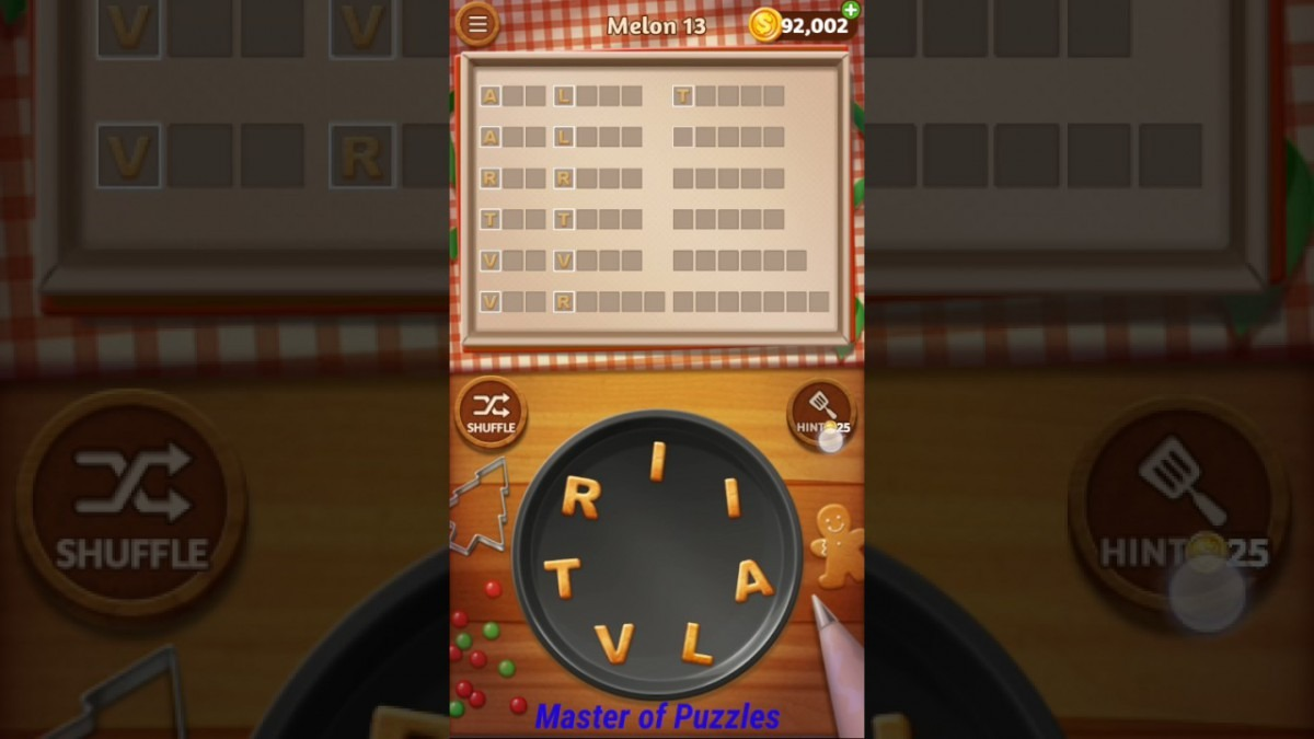 Word Cookies Melon Level 13 Sous Chef Solved