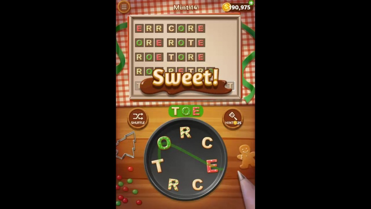 Word Cookies Mint Pack Level 14 Answers