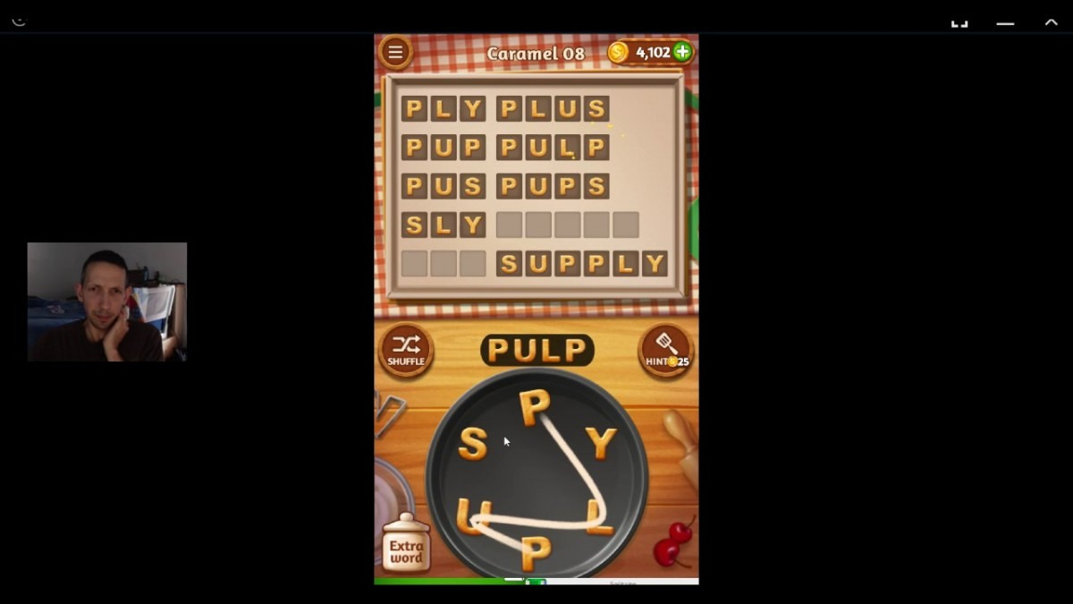 Word Cookies, Commis Chef, Caramel (updated) Level 8 Solved