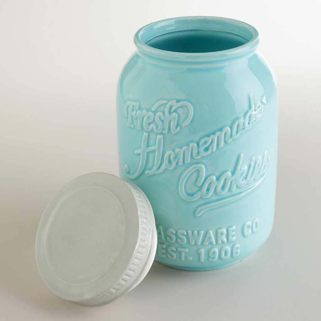 Accessories  Mint Ceramic Mason Jar Cookies