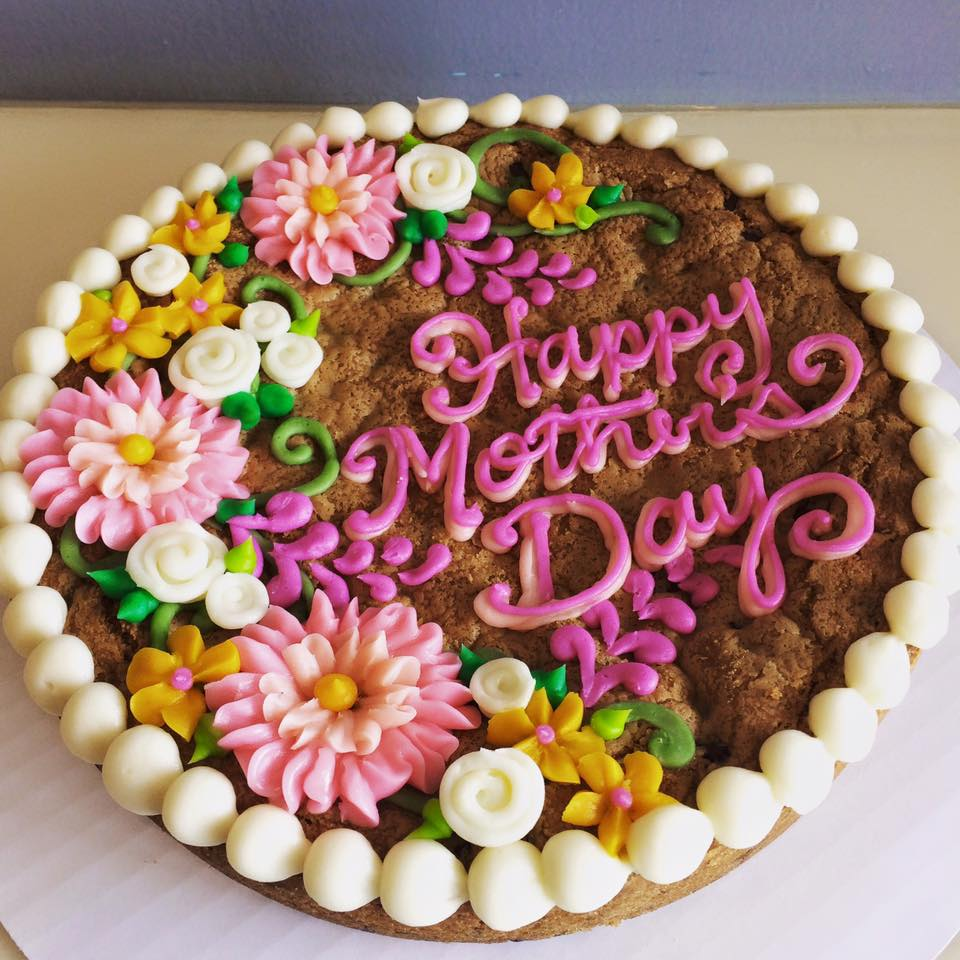 Mothers Day Floral Cookie Cake