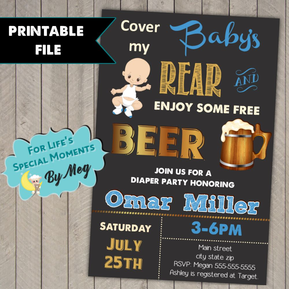 New Diaper Party Invites 24 For Invitation Design Inspiration With