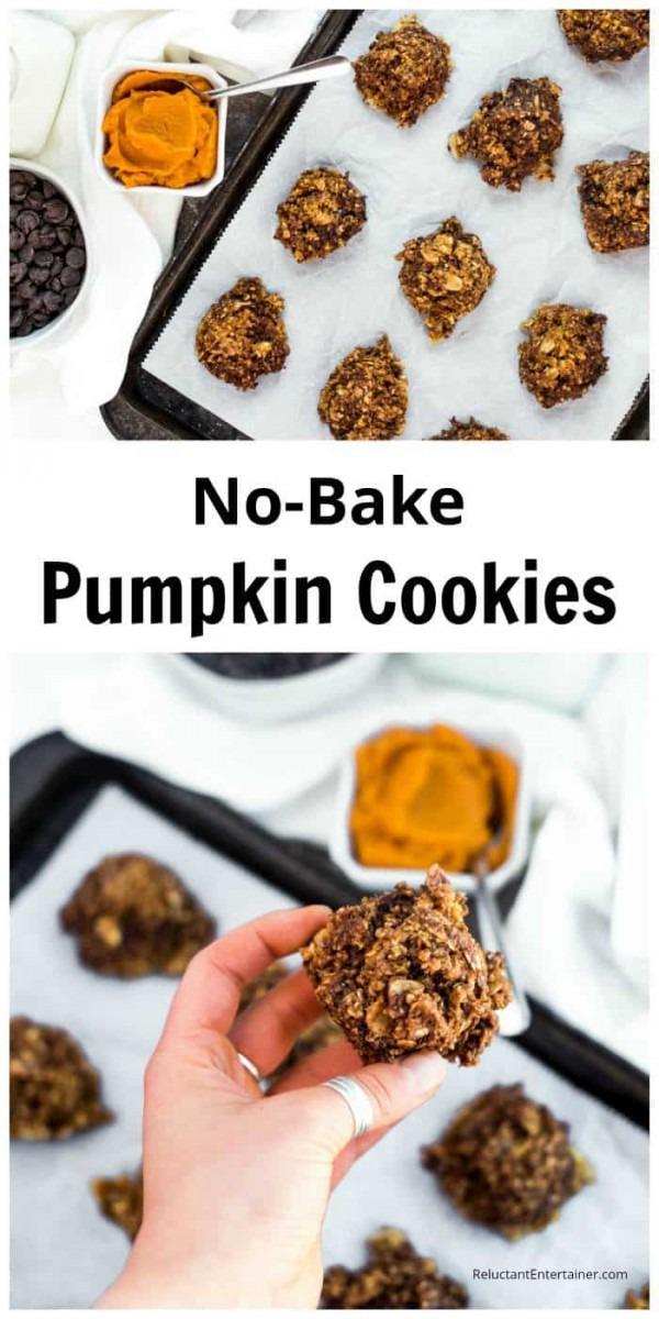 Easy Holiday No Bake Pumpkin Cookies Recipe