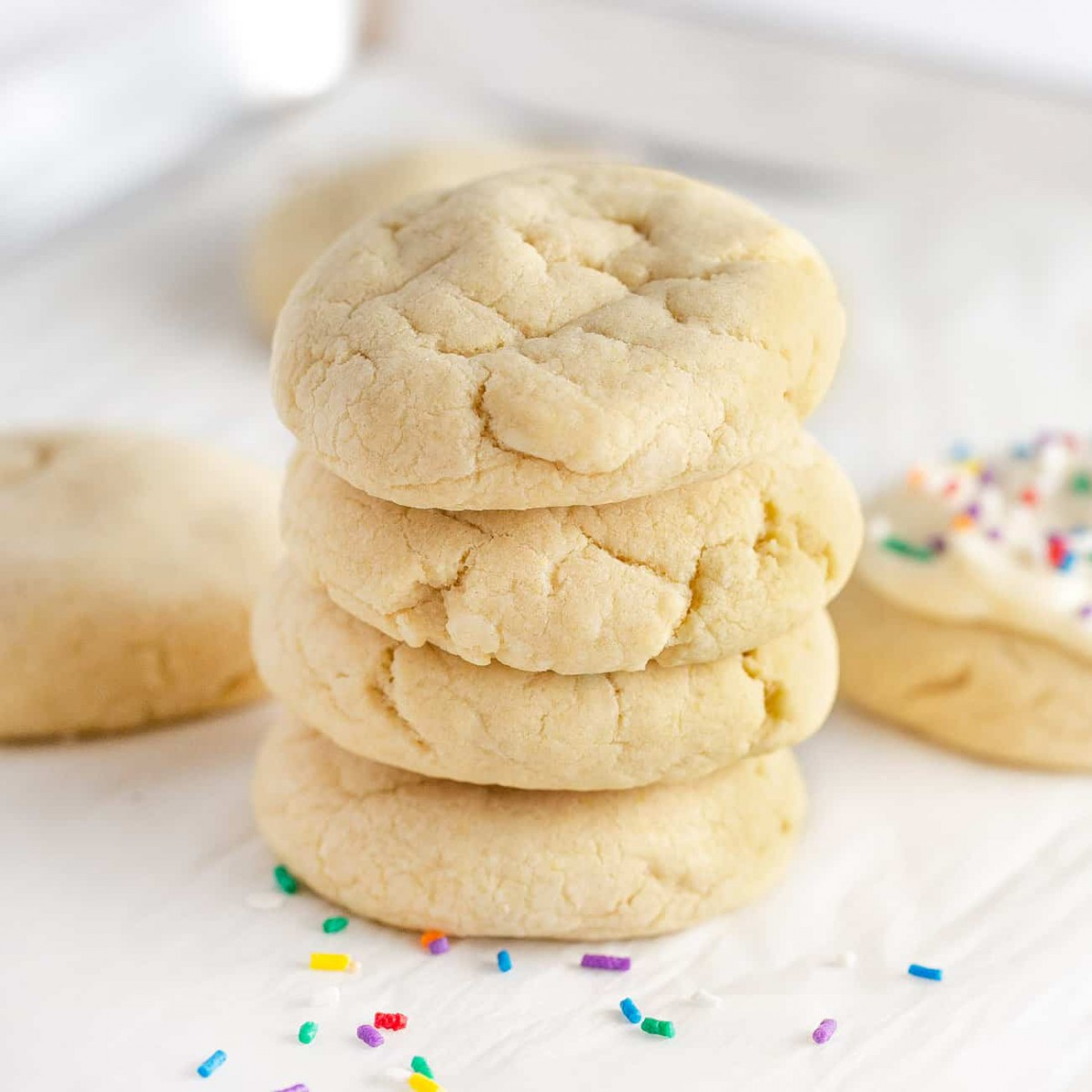 Soft & Pillowy No Roll Sugar Cookies