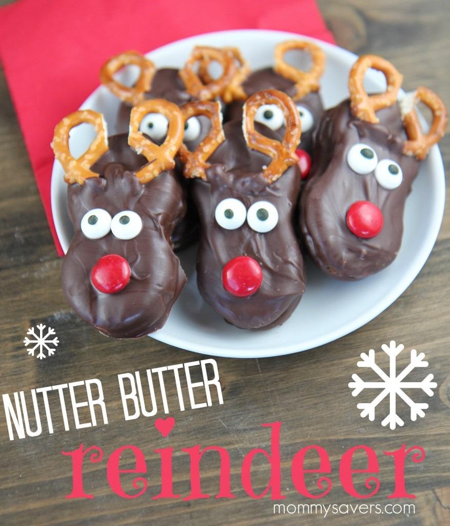 Chocolate Nutter Butter Reindeer Cookies